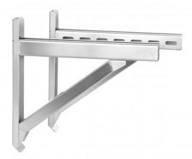 Canna Fumaria - Supporto a muro & traversa - Tip.1 - 350 mm - doppia parete - TEC-DW-Standard