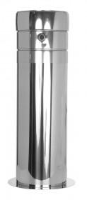 Canna Fumaria - Tubo telescopico 60 - 615 mm con scarico condensa laterale - doppia parete - TEC-DW-Standard