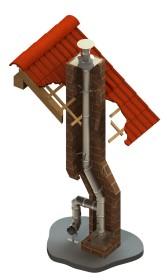 Canna fumaria interna - kit completo - canna fumaria inox - monoparete - TEC-EW-Classic - ø 80 mm