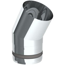 Tubi per stufe a pellet - Curva 30° - non verniciato - Tecnovis-Pellet-Line