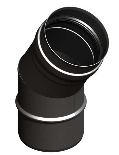 Tubi per stufe a pellet - Curva 30° - nero - Tecnovis-Pellet-Line